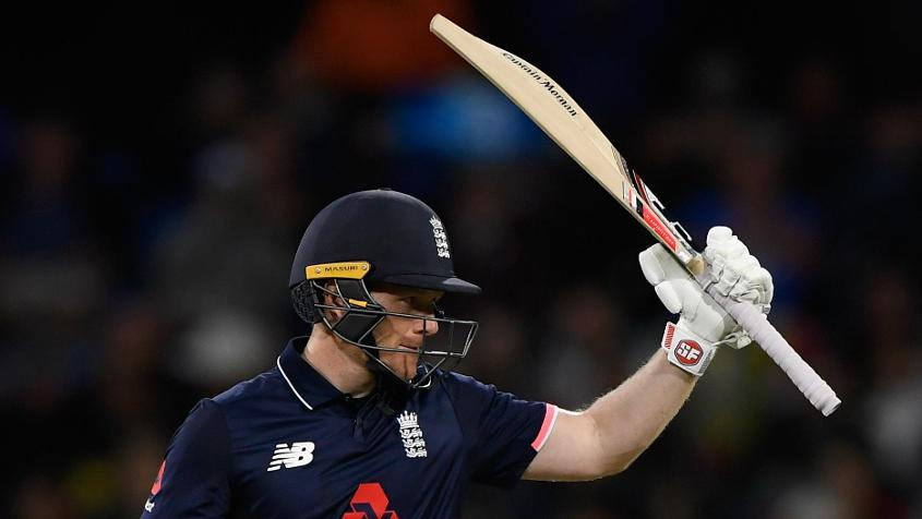Eoin Morgan scored 62, and added 88 for the fourth wicket with Ben Stokes