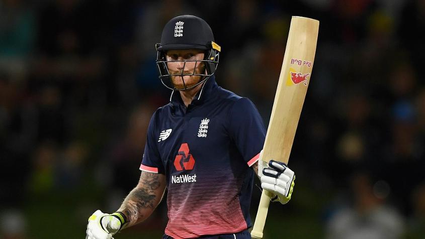 Ben Stokes top-scored for England with an unbeaten 74-ball 63