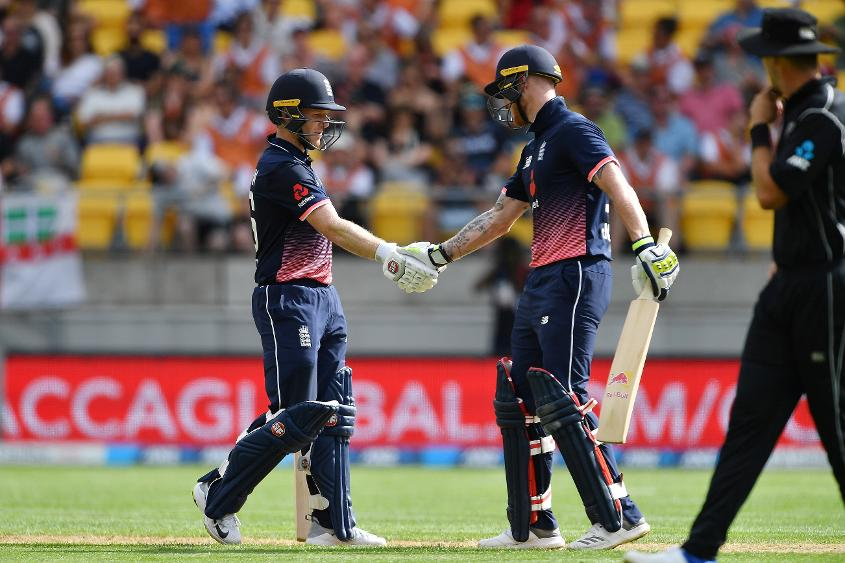 Eoin Morgan and Ben Stokes added 71 runs for the fourth wicket to lift England