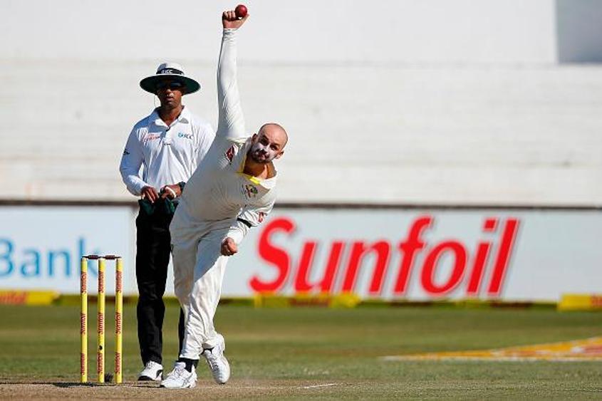 Nathan Lyon picked up the wickets of Dean Elgar, Hashim Amla and Quinton de Kock