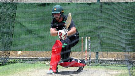 Behinds the scenes of Zimbabwe's practice session with top order batsman Brendan Taylor.