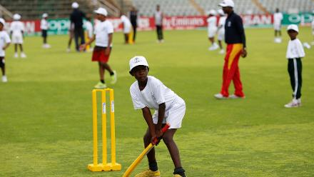 PNG and UAE players take part in ICC Cricket For Good training session