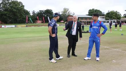 Scotland win the toss and take to the field