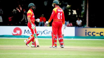 Raza and Taylor forged a 173-run stand for the fifth wicket.