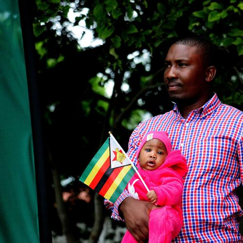 In attendance today on the 4th of March at Queens Sports Club is one of the youngest fans here to fly the Zimbabwean flag at the ICC World Cup Qualifier in Bulawayo.
