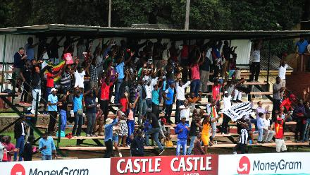 The fans are in full voice here at Queens Sports Club to support the host nation Zimbabwe in the opening match of their Group B, ICC World Cup Qualifier in Bulawayo.
