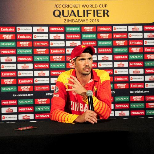 Zimbabwean captain Craig Ervine thanks his fellow team mates and fans for their commitment, drive and contribution to their victory over Nepal in their opening Group B, ICC Cricket World Cup Qualifier held in Bulawayo at the press conference.