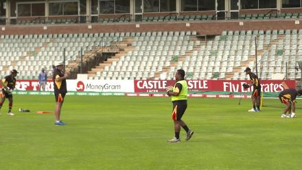 Assad Vala prior to PNG's match against UAE