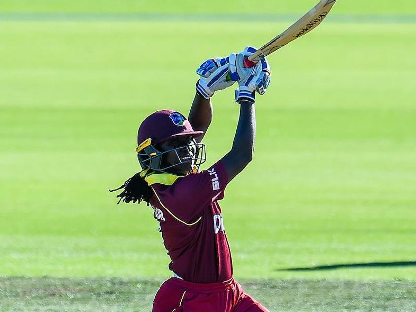 Stafanie Taylor led the Windies chase with 90