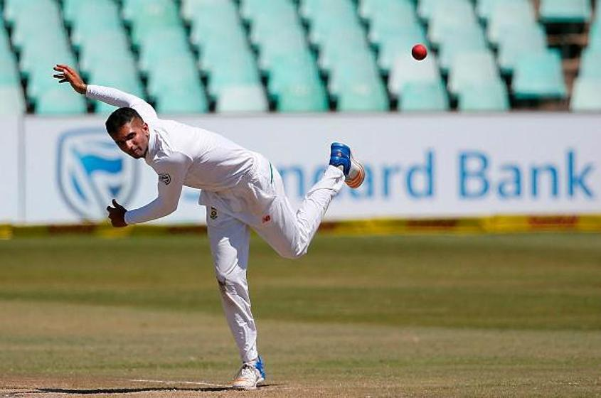 Keshav Maharaj picked up the wickets of Usman Khawaja, Cameron Bancroft and Tim Paine