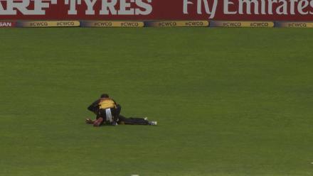 Sese Bau's diving catch denies Rohan Mustafa his century!
