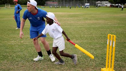 The children got the chance to learn from some of the best players in the world.