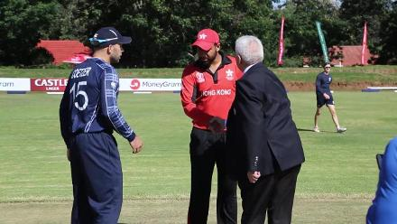 Scotland win toss and will bowl first against Hong Kong