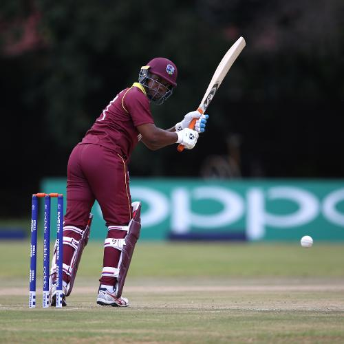 Evin Lewis of The Windies scores a run during The ICC Cricket World Cup Qualifier between The West Indies and The UAE at The Old Hararians Ground on March 6, 2018 in Harare, Zimbabwe (©ICC).