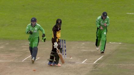 PNG's Charles Amini out stumped off Paul Stirling