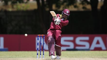 Shimron Hetmeyer of The Windies in action during The ICC Cricket World Cup Qualifier between The Windies and The UAE at The Old Hararians Ground on March 6, 2018 in Harare, Zimbabwe (©ICC).