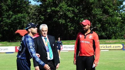 Scotland Captain Kyle Coetzer won the toss and elected to bowl at the Bulawayo Athletic Club, March 6 2018 (©ICC)
