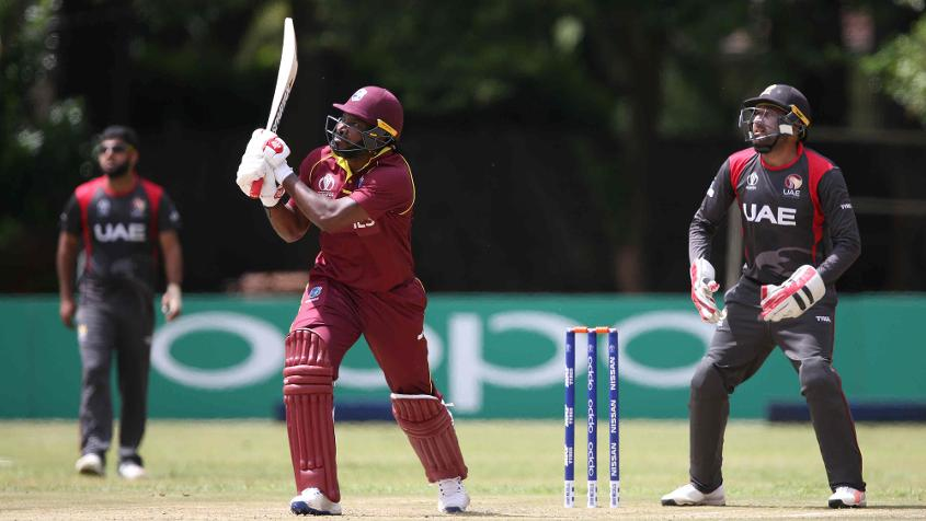 Chris Gayle struck 123 in 91 balls with seven fours and 11 sixes
