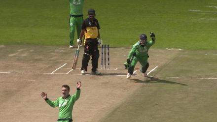 PNG's Assad Vala caught by Ireland's Niall O'Brien off Andy McBrine