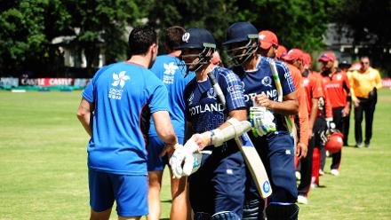 Scotland beat Hong Kong in their Group B match of the ICC Cricket World Cup Qualifiers at the Bulawayo Athletic Club, Zimbabwe, 6 March 2018 (©ICC).