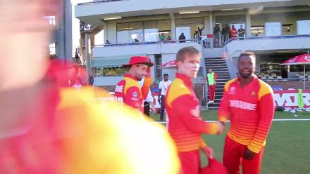 Zimbabwe take final Afghan wicket and the celebrations begin