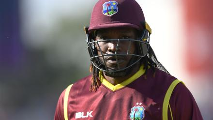 CWCQ: Gayle hits a six on to the roof of the West Indies tent!