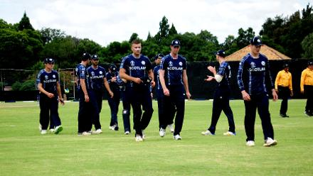 After bundling out Hong Kong for 91, Scotland wrapped up their chase in 23.3 overs (©ICC)