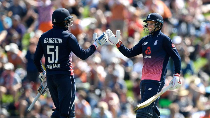 Jonny Bairstow and Joe Root scored centuries in England's 335/9