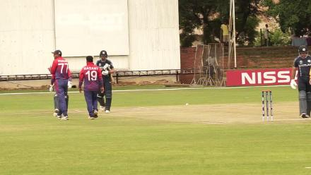 CWCQ: Calum MacLeod bowled by Basant Regmi