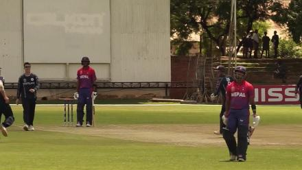 CWCQ: Nepal's Sompal Kami run out by Richie Berrington
