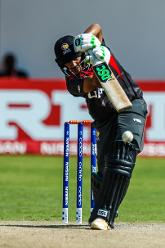 UAE batsman Chirag Suri in action versus the batting of UAE batsman Chirag Suri during a Group A World Cup Qualifier cricket match played between United Arab Emirates and the Netherlands at Harare Sports Club in Harare March 8 2018 (©ICC).