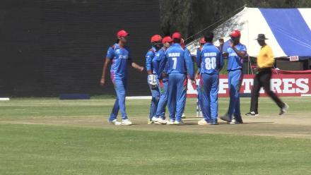 Hong Kong lose three before the drinks break in Bulawayo