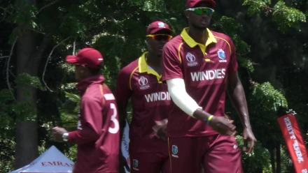 CWCQ: Carlos Braithwaite leads the walk-off after claiming five wickets