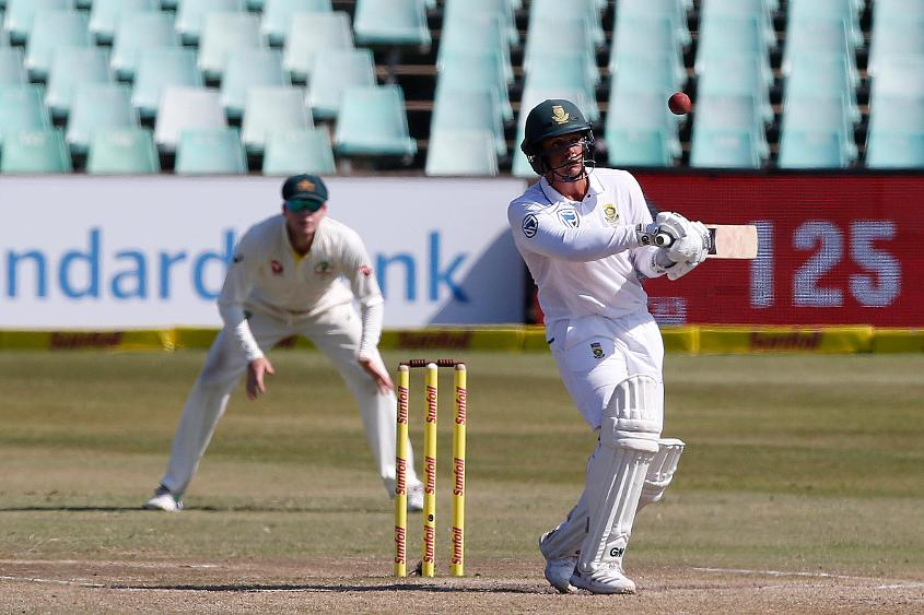 Quinton de Kock added 147 runs for the sixth wicket with Aiden Markram in the second innings at Durban