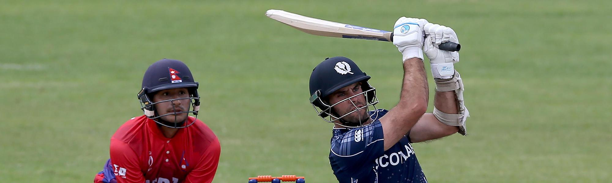 Kyle Coetzer, batting for Scotland