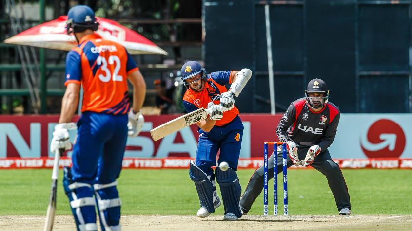 Wesley Barresi top scored for the Netherlands with 37 in 55 balls