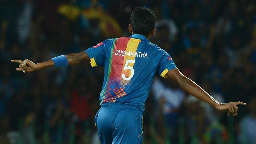 Dushmantha Chameera was impressive with the ball against India