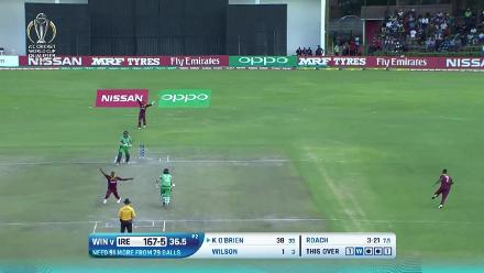 CWCQ: Top shots from Ireland's innings v West Indies