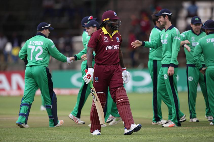 Ireland bowlers sent back the Windies openers early