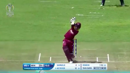 CWCQ POTD - Hetmyer holds the pose for a straight six!