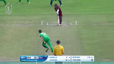 CWCQ POTD - Murtagh's ball to dismiss Samuels