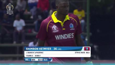 CWCQ: Watch the West Indian wickets fall against Ireland
