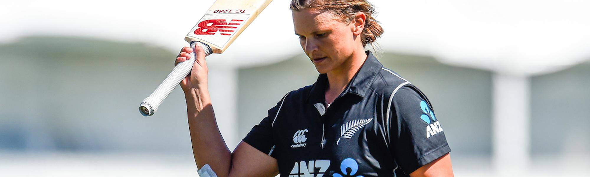 Suzie Bates scored a 97-ball 89 to help New Zealand post 310/5