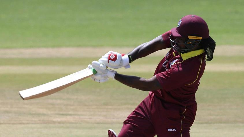 Chris Gayle struck a 31-ball 46 at the top of the Windies batting order