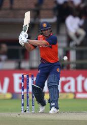 Ryan ten Doeschate of The Netherlands hits out during The ICC Cricket World Cup Qualifier between The Windies and The Netherlands at The Harare Sports Club on March 12, 2018 in Harare, Zimbabwe (©ICC).