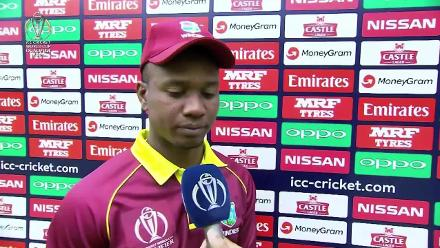 We spoke to Evin Lewis in the innings break
