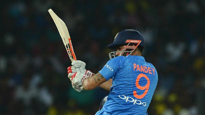 Manish Pandey was rewarded for his excellent form in the quadrangular series