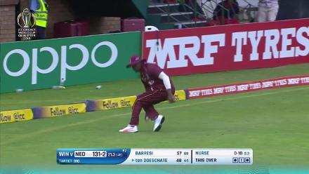 Netherlands batting highlights against the Windies