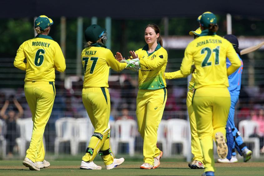 Amanda-Jade Wellington ran through the India batting line-up