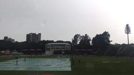 The covers come on at Harare Sports Club